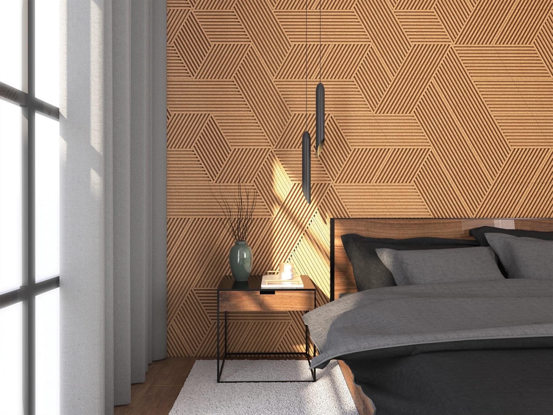 Panel ścienny Korkowy Corkwall Stripe Sol Techdesignpl Wyjątkowe