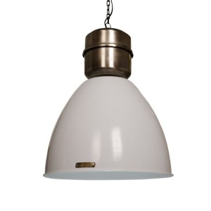 Lampa Voltera 46 cm - Shine White / Dark Nickel