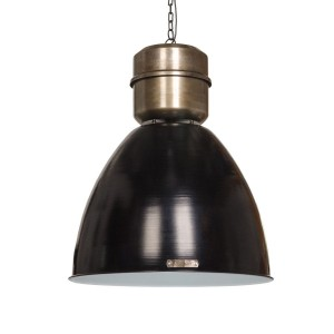 Lampa Voltera 46 cm - Shine Black / Dark Nickel